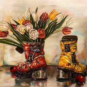 Blomsterkängor I