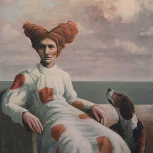 Colombina med hund