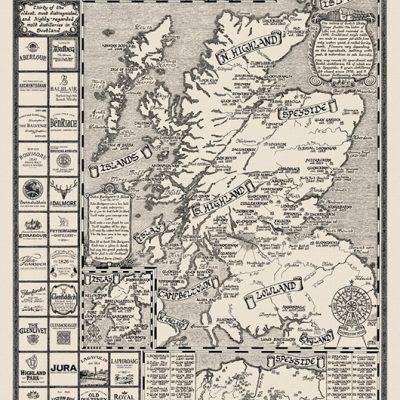Whiskeykarta över Skottland