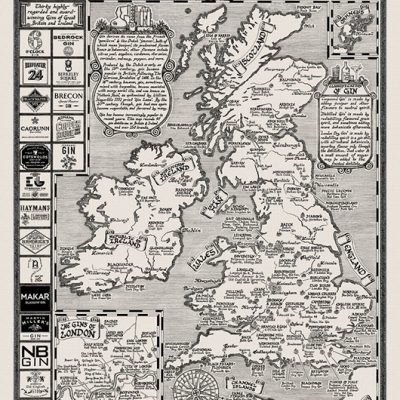 Ginkarta över Storbritannien och Irland.