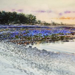 Akvarellskiss från Gotland