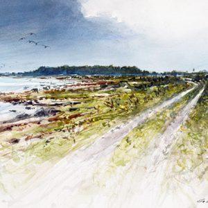 Akvarellskiss från Öland